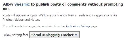 allow Seesmic publish posts without prompting