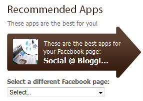 recommended applications for your facebook fan page