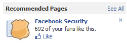 recommended pages and mutual fans count
