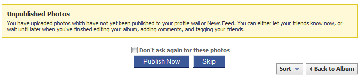 request publish after uploading photos