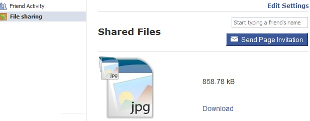 File sharing on page