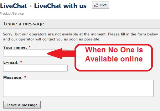 Livechat form