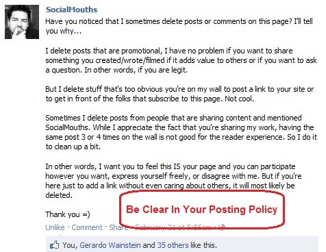 page posting policy