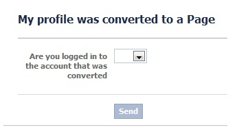 profile convert to page