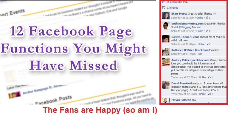 add value to facebook fans