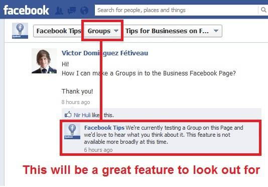 facebook groups in pages
