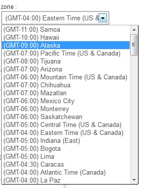 pingraphy timezone options