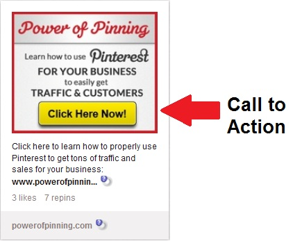 call to action on pinterest