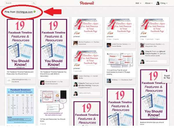 monitor your web content on pinterest