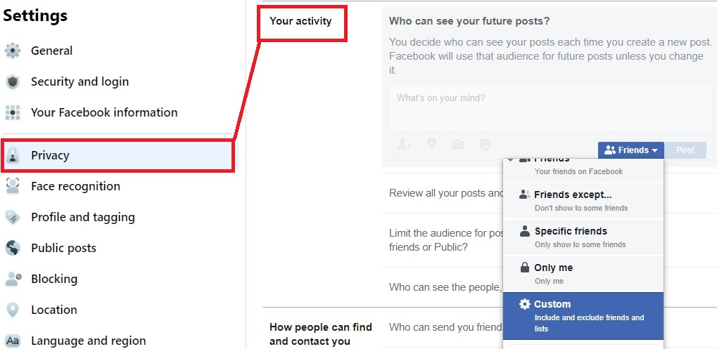 who can see your future posts on facebook