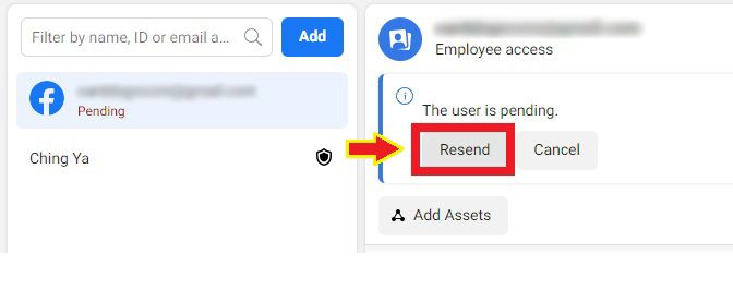 resend invitation to employee