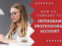 how to switch to instagram professional account